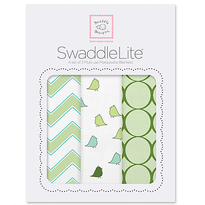 Набор пеленок SwaddleDesigns SwaddleLite Chic Chevron Lite Kiwi