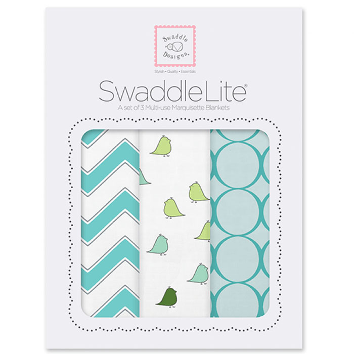Набор пеленок SwaddleDesigns SwaddleLite Chic Chevron Lite TQ