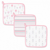 Детские мочалки SwaddleDesigns Washcloth Muslin Pink Thicket