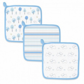 Детские мочалки SwaddleDesigns Washcloth Muslin Blue Forest