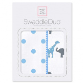 Набор пеленок SwaddleDesigns Swaddle Duo Circus Fun Blue